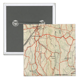 Bicycle Roads in New York and Conneticut 8 Pinback Button