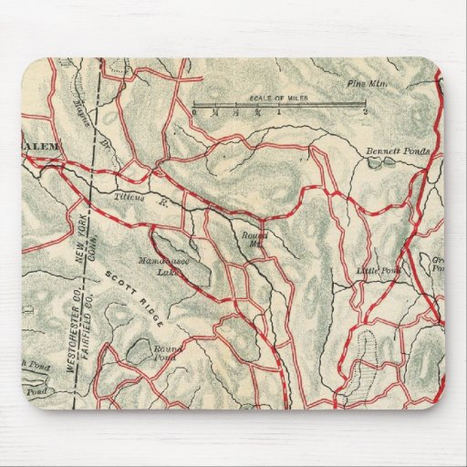 Bicycle Roads in New York and Conneticut 9 Mousepad