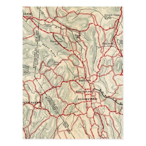Bicycle Roads in New York and Conneticut 9 Postcards