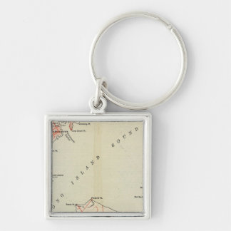 Bicycle Roads in New York and Conneticut Keychains
