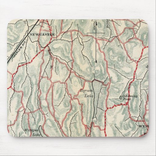 Bicycle Roads in New York and Conneticut Mouse Pad