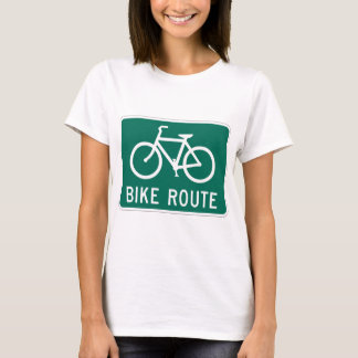 Bicycle Route Ladies Baby Doll (Fitted) T-Shirt
