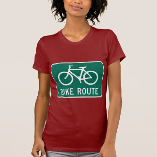 Bicycle Route Ladies Petite T-Shirt