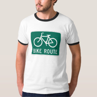 Bicycle Route Ringer T-Shirt