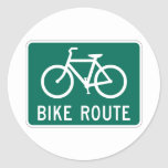 Bicycle Route Sign Large Sticker