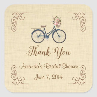 Bicycle Rustic Thank You Stickers