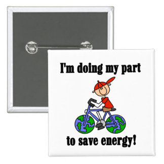 Bicycle Save Energy T-shirts and Gifts Pinback Button