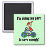 Bicycle Save Energy T-shirts and Gifts Fridge Magnets