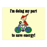Bicycle Save Energy T-shirts and Gifts Postcard