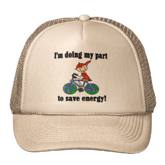 Bicycle Save Energy T-shirts and Gifts Trucker Hat