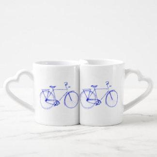 Bicycle scribble coffee mug set