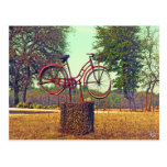 Bicycle Sculpture on Kneese Rd., Crabapple, TX Postcard