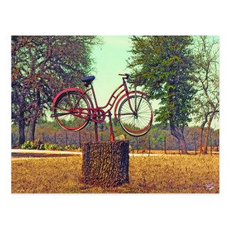 Bicycle Sculpture on Kneese Rd., Crabapple, TX Postcard