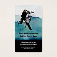 Bicycle Shop Or Outdoor Sports Store Business Card at Zazzle