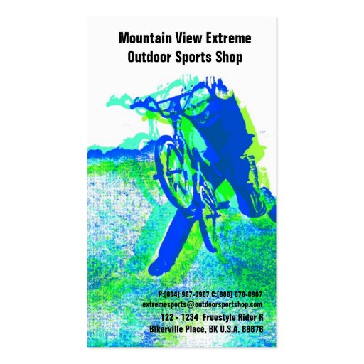 Bicycle Shop or Outdoor Sports Store Double-Sided Standard Business Cards (Pack Of 100)