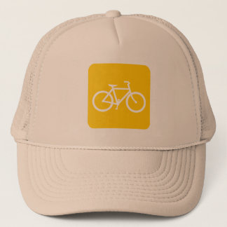 Bicycle Sign - Amber Trucker Hat
