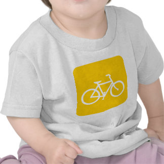 Bicycle Sign - Amber T Shirt