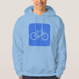 Bicycle Sign - Baby Blue Hoodie