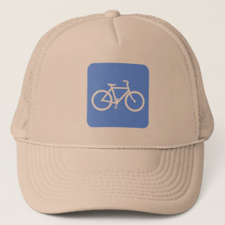 Bicycle Sign - Baby Blue Trucker Hat