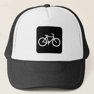 Bicycle Sign - Black Trucker Hat