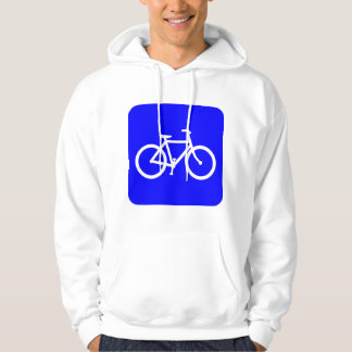 Bicycle Sign - Blue Hoodie