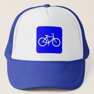 Bicycle Sign - Blue Trucker Hat