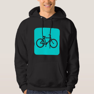 Bicycle Sign - Cyan Hoodie