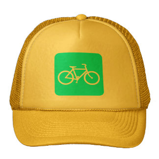 Bicycle Sign - Cyan Trucker Hat