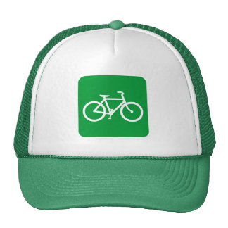 Bicycle Sign - Grass Green Hat
