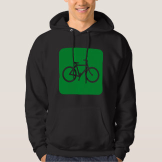 Bicycle Sign - Grass Green Hoodie