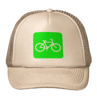 Bicycle Sign - Green Trucker Hat