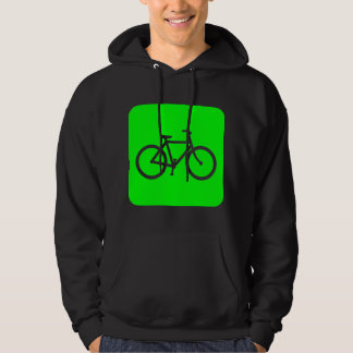 Bicycle Sign - Green Hoodie