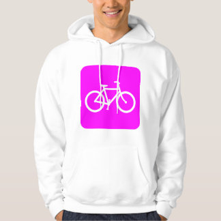 Bicycle Sign - Magenta Hoodie