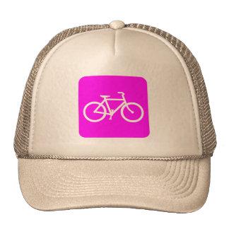 Bicycle Sign - Magenta Trucker Hat