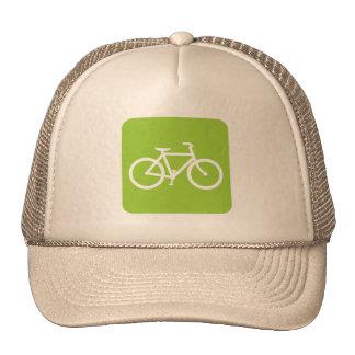 Bicycle Sign - Martian Green Mesh Hats