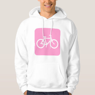 Bicycle Sign - Pink Hoodie