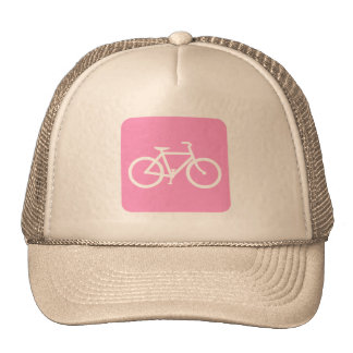 Bicycle Sign - Pink Trucker Hat