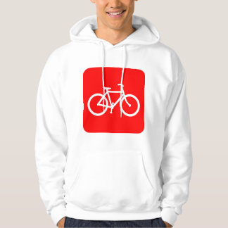 Bicycle Sign - Red Hoodie