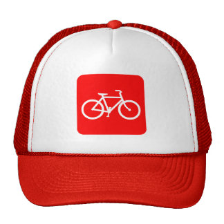 Bicycle Sign - Red Trucker Hat