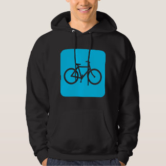 Bicycle Sign - Sky Blue Hoodie