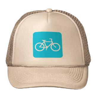 Bicycle Sign - Sky Blue Trucker Hat