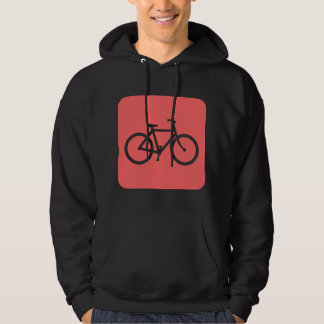Bicycle Sign - Tropical Pink Hoodie