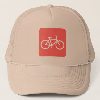 Bicycle Sign - Tropical Pink Trucker Hat