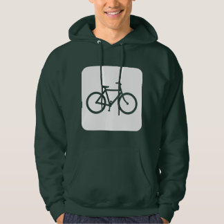 Bicycle Sign - White Hoodie