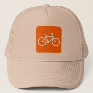Bicycle Sign - White Trucker Hat