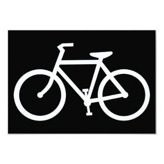 bicycle silhouette card