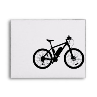 Bicycle Silhouette Envelope
