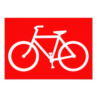 bicycle silhouette invite