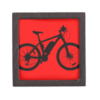 Bicycle Silhouette Jewelry Box