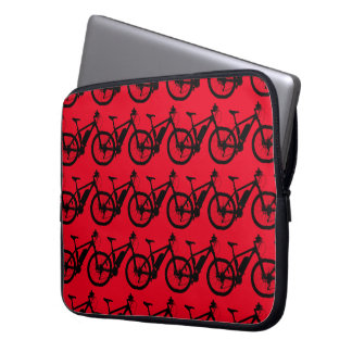 Bicycle Silhouette Laptop Sleeve